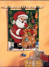 1x Cross Stitch Kit Wall Hanging Avent Calendrier Père Noël outil