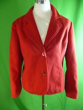 Women's CHICO's Blazer Jacket Size-2 SNAZZY Gorgeous Red Polyester L45