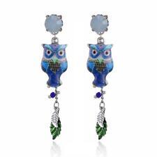 CG2592...ENAMELLED EARRINGS - OWL - FREE UK P&P