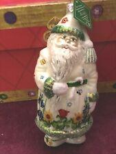 Slavic Treasures Ornament- Hand Blown 7� Springtime Santa - 2002 Nib Members