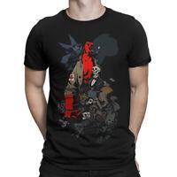 Hellboy Graphic T-Shirt, Premium Cotton Tee, Men's All Sizes