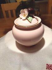 Vintage Staffordshire  Bone China  Pink Floral JamPot/Sugar Bowl
