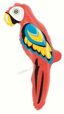 HAWAIIAN LUAU TROPICAL PARTY INFLATABLE PARROT 60CM BLOW UP PIRATE JUNGLE BEACH