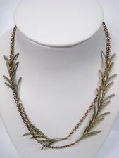 SILVER SEASONS BY MICHAEL MICHAUD ⚜ ROSEMARY LEAVES CHAIN NECKLACE   8332BZ