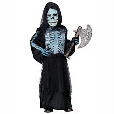 New Boys Girls Size M/4-5 X-RAY SKELETON Halloween Complete Costume Ghoul Zombie