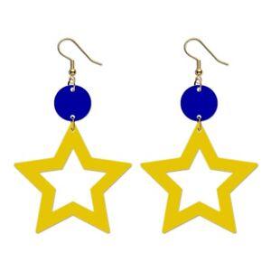 EU Star Earrings Outline Acrylic European Union Europe Flag Anti Brexit Remainer