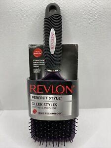 Revlon Perfect Style Sleek Styles Moonlight Paddle Hair Brush Purple