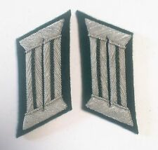 WW2 GERMAN ARMY OFFICER COLLAR TABS GREEN PIPING pair