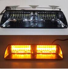 16 LED Emergency Vehicle Car Windshield Strobe Light Bars Amber / Yellow LAMP