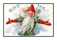 Swedish Jenny Nystrom Gnome Elf God Jul Christmas Counted Cross Stitch Chart