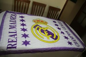 Flag Of Football of The Real Madrid Vintage Champions League Scarce Flag