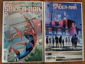 Web of Spider-Man #1 A B Variant Set 1st Print 1st App Harley Keener Brigade