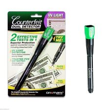 DriMark Smart Money Counterfeit Detector Pen with Reusable UV Led Light 351UVB