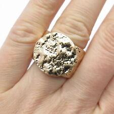 Vintage Hammered Signet Ring Size 7