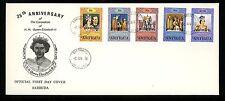 Postal History Barbuda Fdc #349-353 Queen Elizabeth Coronation 1978