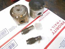 Skidoo Type 467 motor parts: PAIR of STOCK PISTONS w pins and bearings