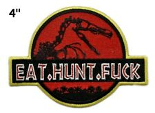Jurassic Park Movie Dinosaur Embroidered Patch Iron / Sew-On Motif Applique