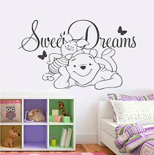 Dulces Sueños Winnie The Pooh Pared Adhesivo Childrens bedroom lechón
