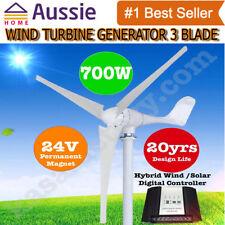 Wind Turbine Generator 3 Blade - 700W 24V Digital Hybrid Wind/Solar Controller!!