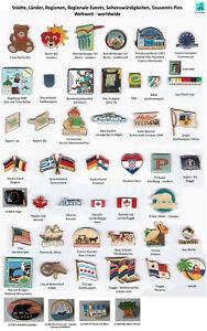 Städte, Länder, Regionen, Events, Souvenir, Sehenswürdig Weltweit Pins AUSSUCHEN