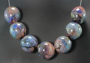 Handmade Lampwork Hollow Glass Focal  Bead set by ikuyoglassart SRA