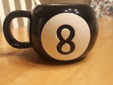 MAGIC EIGHT Ball Coffee Cup Mug Vintage Pool 8 Ball Billiards retro toy tea coco