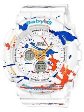 Casio Baby-G * BA120SPL-7A Splatter Pattern White Anadigi Watch COD PayPal