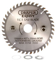 Genuine DRAPER Expert TCT Saw Blade 184X30mmx40T 9473