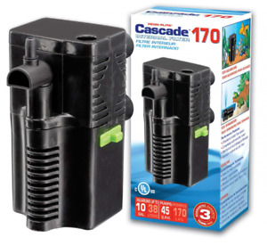 CIF4 Cascade 170 Submersible Aquarium Filter Cleans Up to 10 Gallon Fish Tank or