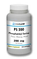 Phosphatidyl Serine 200, PS200, PS 200, 200mg 120 Capsules Big Bottle