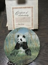 W.J.George 199 The Secret World of the Panda Collector Plates bamboo feast