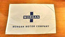 MORGAN MOTOR COMPANY WHITE FLAG BANNER 3X5FT AERO 8 PLUS 8 ROADSTER CLASSIC