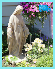 "Virgin Mary Statue Blessed Mother Garden Sculpture Resin Religious 34"" Decor NEW"