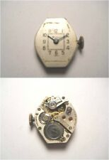 WYLER 17 Jewel Swiss Watch Movement REPAIR OR PARTS SILVER FACE WOB IMPORT CODE