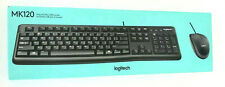 Logitech MK-120 - Desktop USB Keyboard and Mouse - Black NEW in Opened Box