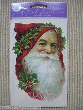NIP Gifted Line Vtg Scrapbook Stickers Christmas Santa Claus Head John Grossman