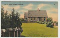 1941 Postmarked Postcard An Old House on Cape Cod Massachusetts MA