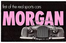 Morgan 4/4 1600 y Plus 8 1970 mercado del Reino Unido Folleto de ventas