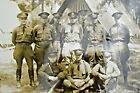 1918 World War I infantry  Camp Group Military Photograph Black & White