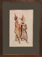 Tableau Litho signée (mine de plomb) par Noël DORVILLE (1874-1938) Danseuses