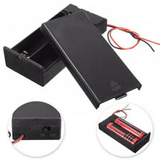 DC Battery Storage Case Box Holder ON/OFF Switch Cable For 18650 3.7V Battery