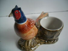 Unusual  Pheasant With Egg Cup By Quail Pottery  Ideal Gift Boxed.