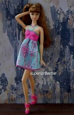 Fashionistas Blue Babydoll Halter Party Dress and Platforms