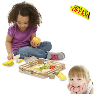 Autism Kids Sensory Educational Toys Tactile Wooden Cutting Fruit Games  SEN