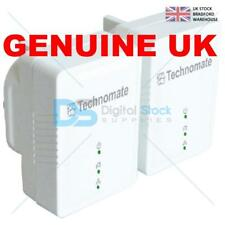 Technomate 600 Mbps AV2 Home Plug Power Line Adapter Starter Kit (Pack of 2) NEW
