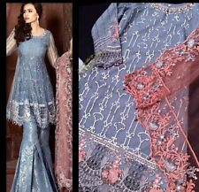 Pakistani Maria B Inspired Gharara Dress 3 Pc Size Medium Eid Wedding Formal