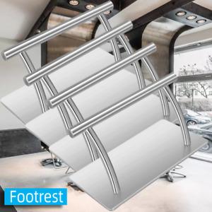 Stainless Steel Foot Rest Salon Office Leg Up Footrest Relax Hair Chair Tattoo