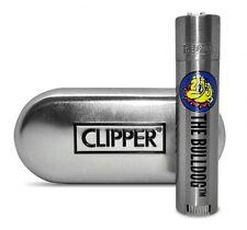 CLIPPER LARGE METAL THE BULLDOG AMSTERDAM - 1 ACCENDINO + CUSTODIA