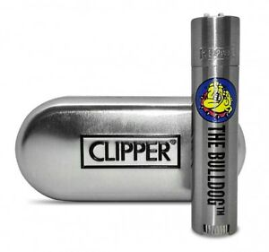 CLIPPER LARGE METAL THE BULLDOG AMSTERDAM - 1 ACCENDINO + CUSTODIA