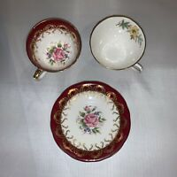 2 Vintage Floral ☕️ Tea Cups Bone China Made in England Aynsley & Royal Doulton